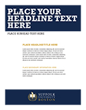 Place your headline text template