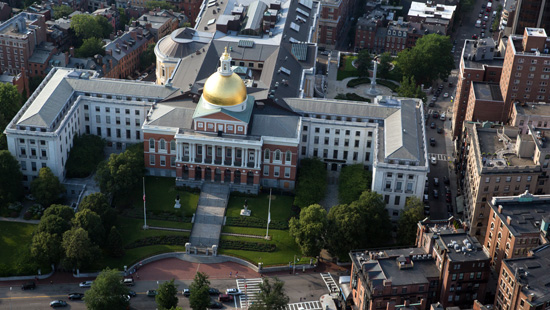 Aerial view of The State House.