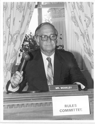 Joe Moakley chairing the House Rules Committee
