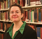 Professor Amy Agigian portrait in library