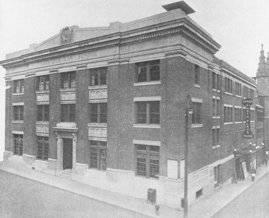 Black and white photo of The Walsh Theatre in 1920