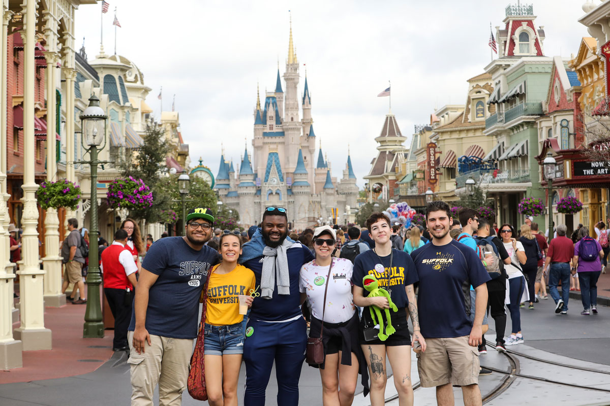 Suffolk Journey students pose for a photo in Walt Disney World.