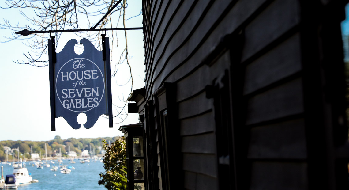 House of Seven Gables outside signage