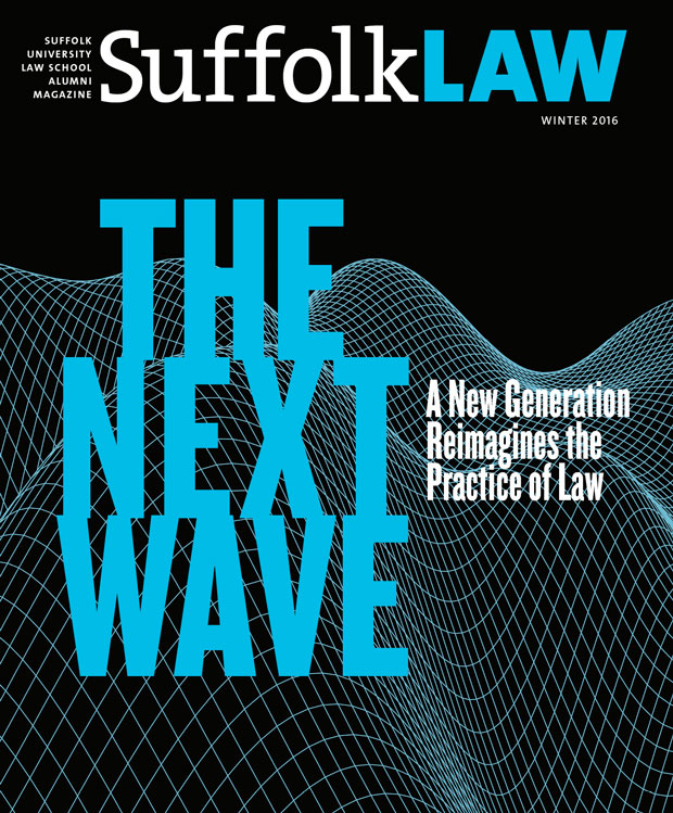 Suffolk Law Magazine Winter 2016/Spring 2017 cover
