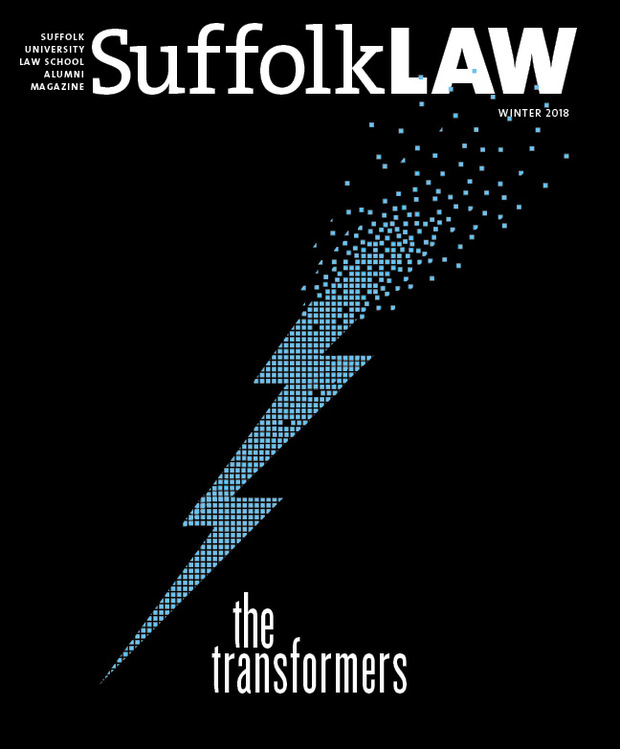 Suffolk Law Magazine Winter 2018 cover