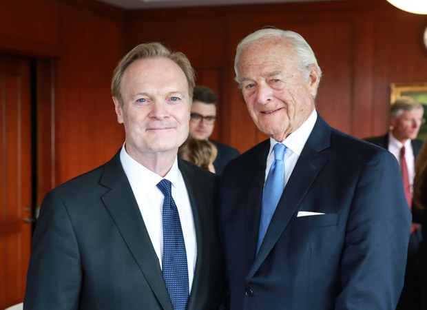 MSNBC's Lawrence O'Donnell and Edward I. Masterman JD'50, LLD'90