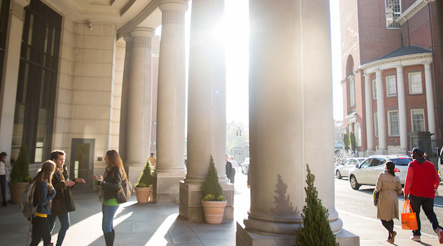 Law school columns at Suffolk.