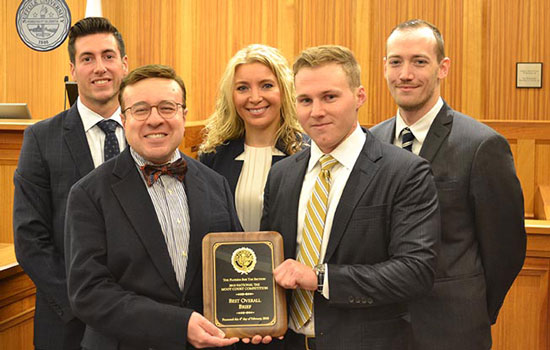 Tax Moot Court Team members with Prof. Anthony Polito