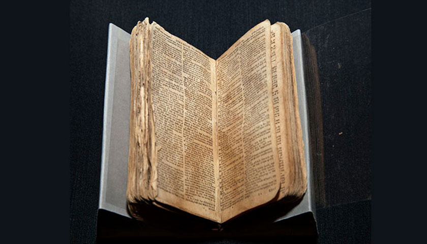 Nat Turner's Bible in its new home at the National Museum of African American History and Culture (photo: Michael Barnes, Smithsonian)