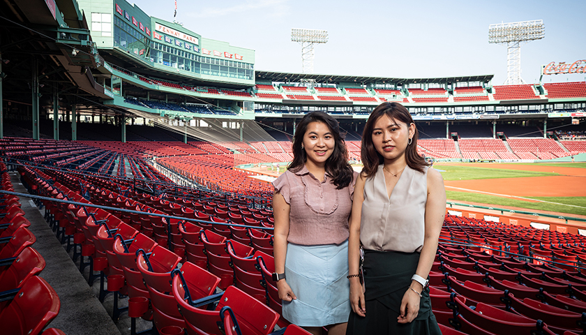 Emily Lin & Helen Huang at Fenway Park