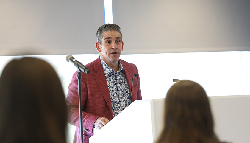 Poet Richard Blanco at the 2019 Public Policy Symposium